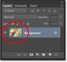 The preview thumbnail in the Layers panel. Image © 2014 Steve Patterson, Photoshop Essentials.com