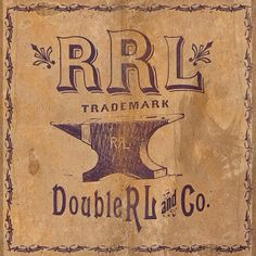 Detail shot of RRL custom ephemera. #typehunter #rrl #doublerl #vintagebrand