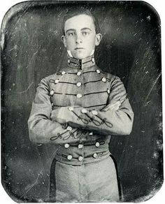 Walter Taylor at V.M.I. prior to the Civil War. He was Robert E. Lees aide.