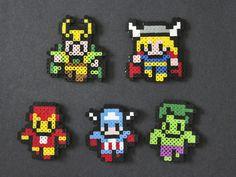 Avengers perler bead sprites by Kelsey Rushing