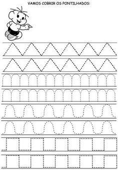 1 Preschool Writing, Preschool Learning, Kindergarten Math, Writing Activities, Preschool Activities, Kids Math Worksheets, Handwriting Worksheets, Tracing Worksheets, Pre Writing