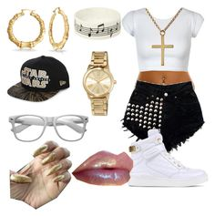 """ME 😚😜🙏🙏"" by princesskissbonilla ❤ liked on Polyvore featuring interior, interiors, interior design, home, home decor, interior decorating, Bling Jewelry, New Era, Music Notes and MICHAEL Michael Kors"