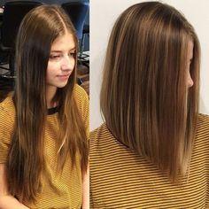 Few highlights + hair donation = beautiful one length bob #bob #randco #oribe #davines #behindthechair #modernsalon #americansalon @robertmoralesstudio