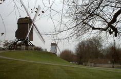 Historic Windmill in Bruges Belgium