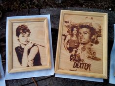 Audrey Hepburn pyrography. by PyroWell on Etsy