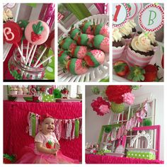 Strawberry Theme Birthday Party