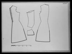 1680-tal. Bildnummer A_2417, mönster. Gäller väst/ärmväst/rock med inventarienummer 19019, Livrustkammaren. Pattern.