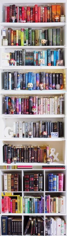 Colour-sorted Bookshelf (by Grace's Library) - Beautiful