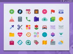 Material color icon set dribbble