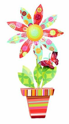 HomeSeasons.com - Spring Large Flower and Pot Décor - Butterfly    http://www.homeseasons.com/Easter-Spring-Decorations/Spring-Large-Flower-and-Pot-D-cor-Butterfly-p591.html