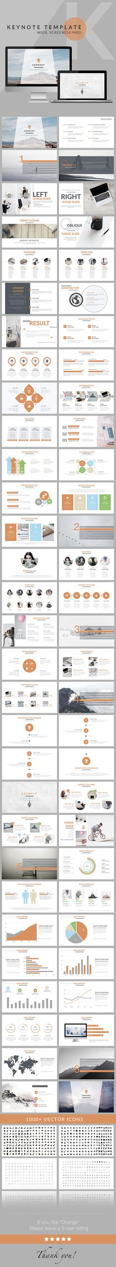 Orange - Clean trend business Keynote Template - Business Keynote Templates