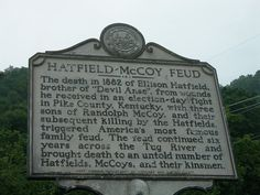 Hatfield-McCoy Feud Historic Sign by jimmywayne, via Flickr