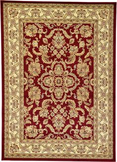 Unique Loom 3118178 7 Feet (7' x) Agra Area Rug, 7 x 10, Red -- Don't get left behind, see this great  product (This is an amazon affiliate link. I may earn commission from it)
