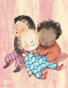 Entre Lápis e Pincéis: Sarah Massini People Illustration, Children's Book Illustration, Character Illustration, Graphic Design Illustration, Character Drawing, Character Design, Hugs, Animated Clipart, Belle And Boo