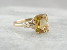 Scintillating Citrine And Simple Gold Ladies Ring HDE2F0-D by MSJewelers on Etsy https://www.etsy.com/listing/230127879/scintillating-citrine-and-simple-gold
