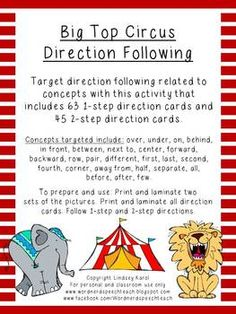 Big Top Circus Direction Following