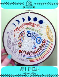 FULL CIRCLE  pdf embroidery pattern by cozyblue on Etsy