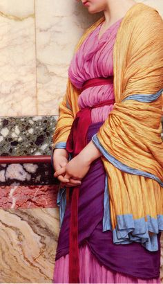 "by-the-brush: ""  In Pensive Mood (detail) John William Godward - 1919 """