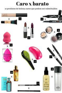 Maquiagem barata. Maquiagem importada. produtos caros e seus similares nacionais - economize na hora de comprar maquiagem