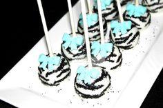 "Photo 5 of 17: Tiffany blue inspiered zebra baby shower / Baby Shower/Sip & See ""Zebra"" | Catch My Party"