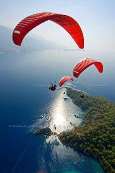 Para gliding Turkey!