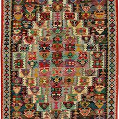 Sena Kurdi Turkish Hand Knotted Killim Size: M x M Knots, Bohemian Rug, Home Decor, Decoration Home, Room Decor, Knot, Interior Design, Home Interiors, Interior Decorating