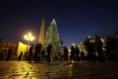 Vatican City Christmas tree.