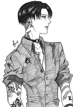 Punk!Levi - Attack On Titan by Bloody-Aliice.deviantart.com on @DeviantArt