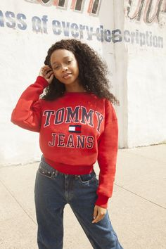 Tommy hilfiger drop new collection hypebae Teen Girl Fashion, Teen Girl Outfits, 90s Fashion, Fashion Outfits, Ootd Teen, Fasion, Tommy Hilfiger Fashion, Tommy Hilfiger Jackets, Tommy Clothes
