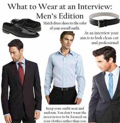 What to wear at an interview. | What to Wear to Work - What Not To Wear to Work #howmendress #menswear #mensfashion