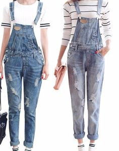 Denim Overalls - Denim Overalls  Material: Cotton,Polyester,Lycra,Modal,SpandexFit Type: StraightFabric Type: BroadclothS-2-4 M-6 L-8 XL-10 XXL-12-14 - On Sale for $38.00 (was $44.00)
