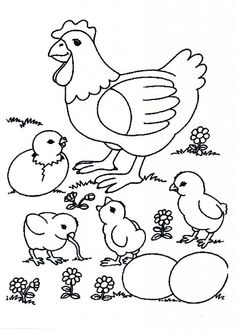 Free Printable Chicken Coloring Pages Free Printable Coloring Page
