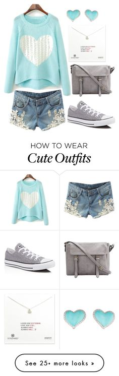 """""""Cute Casual Outfit"""" by sarahlong3019 on Polyvore featuring WithChic, Converse and Dogeared"""