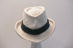 Fedora Pattern has instructions for either a convex or flat crown. Comes in sizes from Baby to Men's XX- Large. A stiffer construction is recommended. Stitches need to be fairly tight.