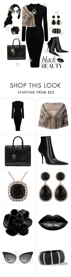"""Untitled #12"" by polymeme ❤ liked on Polyvore featuring Liska, Yves Saint Laurent, Balenciaga, Allurez, Majolie Collections, Chanel, The Lip Bar, Dolce&Gabbana and Kenneth Jay Lane"