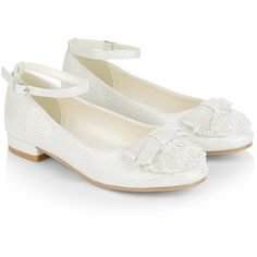 Monsoon Sparkle Gem Ankle Strap Flat Shoes ($45) ❤ liked on Polyvore featuring shoes, flats, ballerina shoes, embellished ballet flats, ankle strap shoes, embellished flats and bow ballet flats