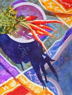 Anne Abgott Canadian born, Anne Abgott, maintains studios in Cortez, Florida and Linville, No. Watercolor Fruit, Watercolor Artwork, Watercolor And Ink, Art And Illustration, Watercolor Illustration, Still Life Art, Art Graphique, Oeuvre D'art, Art And Architecture