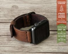 Apple Watch Band Leather Watch Band Minimal Series by TRIMleather