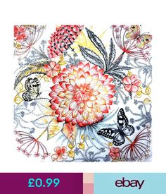 BEAUTY FLOWER Art D28 4 x Single Vintage Table Paper Napkins for Decoupage