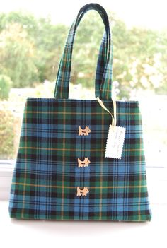 Ladies Tartan Handbag in Ancient Gordon Tartan by CeciliaWilsonDesigns, £20.00