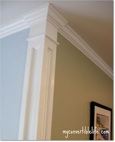 Corner molding - Beautiful way to separate your wall colors!