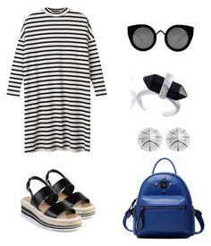 Sem título #428 by lararebeca on Polyvore featuring moda, Monki, Prada, Chicnova Fashion, Journee Collection and Quay