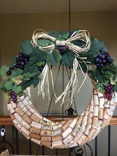 Wine Cork WreathCountry Wine WreathBistro Wine Bar Wreath