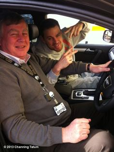 Channing Tatum's photo: Hanging out with Terry on my #morningcommute to set. Thanks @audiuk!