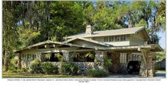 We love this Lakeland, Florida low slung 1920's camelback bungalow located in the Lake Morton historic district. Lakeland was featured in Issue 69 of American Bungalow.