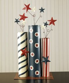 I think this could be made easily with cardboard tubes And craftpaper but this one is by Adams & Co. on #zulily