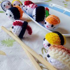 Amigurumi Sushi Cat : 1000+ images about amigurumi sushi patterns on Pinterest ...
