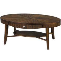 "Ashford Single-drawer 46"" Oval Coffee Table (hazelnut)"