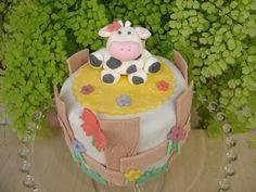 Mini tarta de fondant campestre