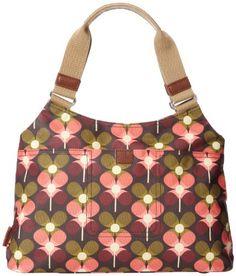 Orla Kiely Forest Flower Print Classic Shoulder Bag Cranberry �